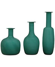 Uttermost Baram Turquoise Vases, Set of 3