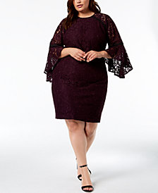 Calvin Klein Plus Size Lace Sheath Dress