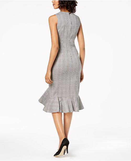 6c3a89ddc719f Calvin Klein Petite Menswear Ruffled Sheath Dress   Reviews ...