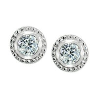 Deals on Giani Bernini Cubic Zirconia Beaded Edge Stud Earrings