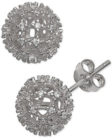 Giani Bernini Cubic Zirconia Fireball Stud Earrings in Sterling Silver, Created for Macy's