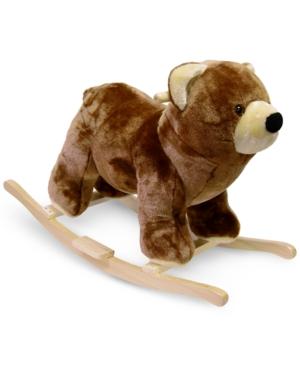 Trademark Global Happy Trails Bear Plush Rocking Animal