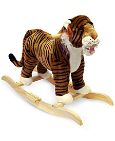 Trademark Global Happy Trails Tiger Plush Rocking Animal