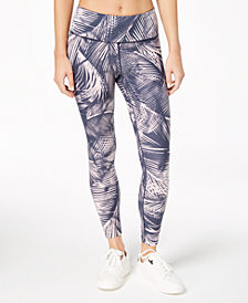 Calvin Klein Performance Mustique Printed High-Rise Logo Leggings