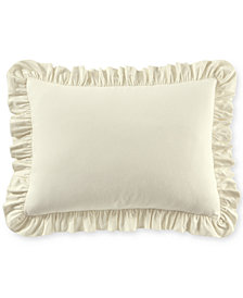 Martha Stewart Collection Luxury Portuguese Flannel Ruffle Standard Sham, Created for Macy's
