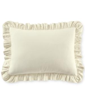 Martha Stewart Collection Luxury Ruffle Cotton Standard Sham Created for Macys