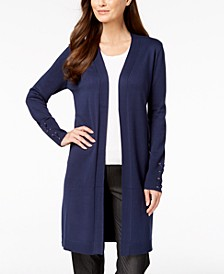 Lace-Up-Sleeve Cardigan, Created for Macy's