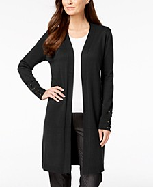 Lace-Up-Sleeve Cardigan, Regular & Petite Sizes, Created for Macy's