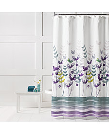 "Saturday Knight Watercolor Meadows Printed 70"" x 72"" Shower Curtain"