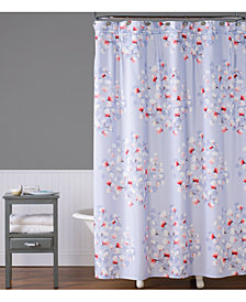 "Saturday Knight Lillian Floral Toss 70"" x 72"" Shower Curtain"