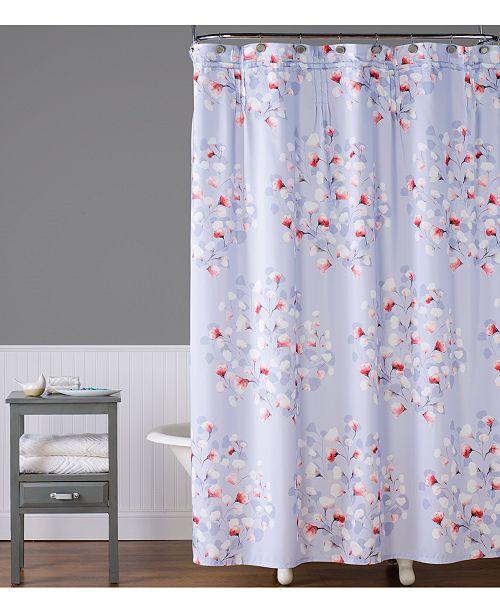 Saturday Knight Lillian Floral Toss 70 X 72 Shower Curtain