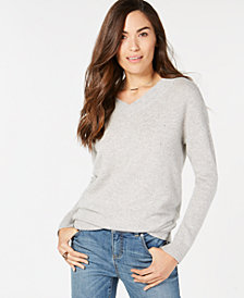 Charter Club Rhinestone-Embellished Pure Cashmere Sweater, Created for Macy's