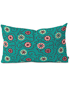 Deny Designs Holli Zollinger Suzani Turquoise Oblong Throw Pillow