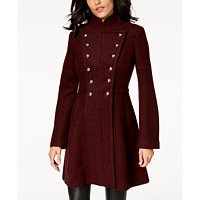 Guess Double-Breasted Skirted Coat Deals
