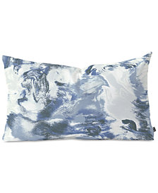 Deny Designs Jacqueline Maldonado Mist Blue Oblong Throw Pillow