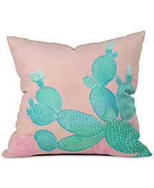 Deny Designs Kangarui Pastel Cactus Throw Pillow
