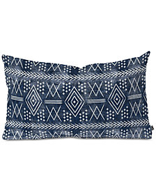 Deny Designs Little Arrow Design Co Vintage Moroccan On Blue Oblong Throw Pillow