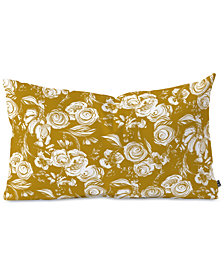 Deny Designs Pattern State Floral Sketch Ginger Oblong Throw Pillow