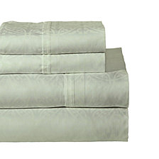 Pointehaven Printed 3-Pc. Twin Sheet Set, 300 Thread Count Cotton Sateen