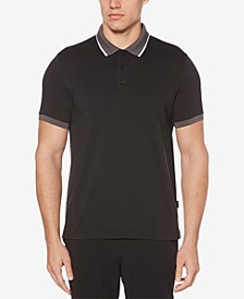 Men's Colorblocked Cotton Polo