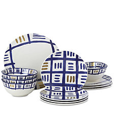 Lenox-Wainwright Pompeii Blu Sky 12-Pc. Dinnerware Set, Service for 4, Created for Macy's