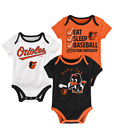 Outerstuff Baltimore Orioles Play Ball 3-Piece Set, Infants (0-9 Months)