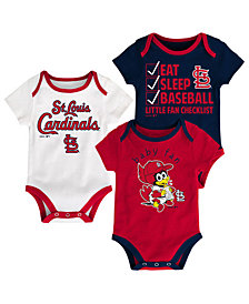 Outerstuff St. Louis Cardinals Play Ball 3-Piece Set, Infants (12-24 Months)