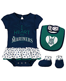 Outerstuff Seattle Mariners Bib & Booty Set, Infant Girls (0-9 Months)