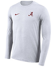 Nike Men's Alabama Crimson Tide Long Sleeve Dri-Fit Coaches T-Shirt
