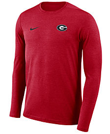 Nike Men's Georgia Bulldogs Long Sleeve Dri-Fit Coaches T-Shirt