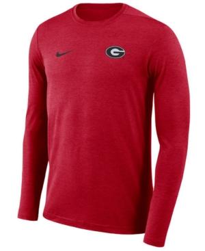 Nike Men's Georgia Bulldogs Long Sleeve Dri-Fit Coaches T-Shirt