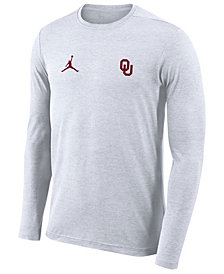 Nike Men's Oklahoma Sooners Long Sleeve Dri-Fit Coaches T-Shirt