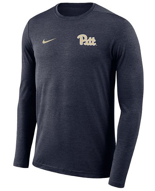 Nike Men's Pittsburgh Panthers Long Sleeve Dri-Fit Coaches T-Shirt