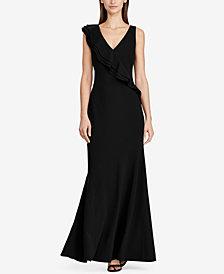 Lauren Ralph Lauren Ruffle-Trim Jersey Gown
