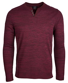 Men's Textured Space-Dyed Stretch Henley, Created for Macy's