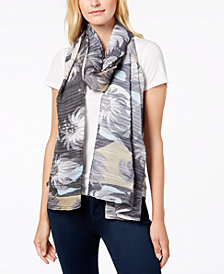 Echo Circling Lotus Pleated Scarf