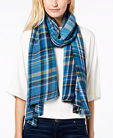 Echo Pleated Plaid Scarf