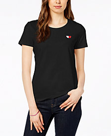 Tommy Hilfiger Heart Logo T-Shirt, Created for Macy's