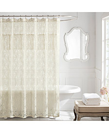 "Lamont Everly Floral Lace 72"" x 72"" Shower Curtain"
