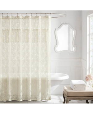 Lamont Everly Floral Lace 72 x 72 Shower Curtain Bedding