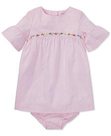 Ralph Lauren Baby Girls Cotton Ruffle-Sleeve Dress
