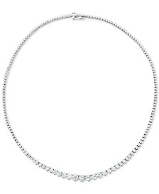 "Diamond Fancy 17"" Collar Necklace (15 ct. t.w.) in 14k Gold"
