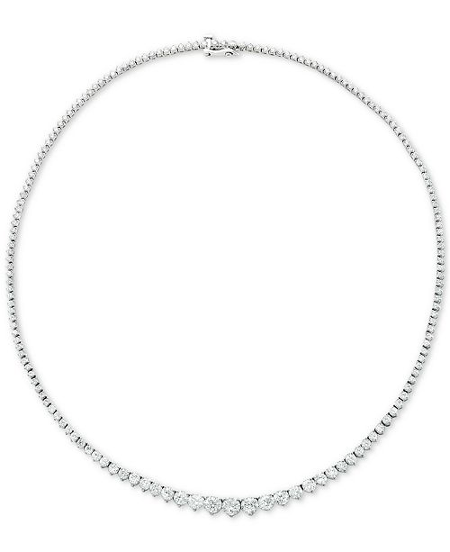 "Macy's Diamond Fancy 17"" Collar Necklace (15 ct. t.w.) in 14k Gold"