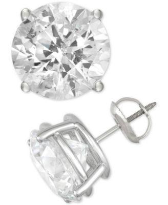 Diamond Stud Earrings (4 ct. t.w.) in 14k White Gold