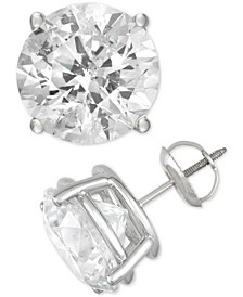 Diamond Stud Earrings (2 to 10 ct. t.w.) in 14k White Gold
