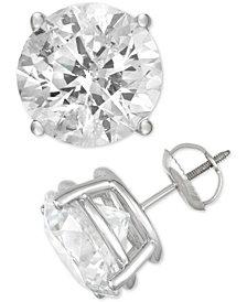 Diamond Stud Earrings (10 ct. t.w.) in 14k White Gold