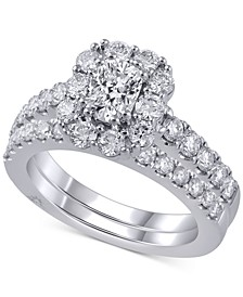 Diamond Bridal Set (2 ct. t.w.) in 18k White Gold