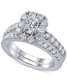 Marchesa Diamond Bridal Set (2 ct. t.w.) in 14k White Gold
