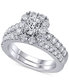 Marchesa Diamond Bridal Set (2 ct. t.w.) in 18k White Gold