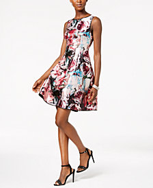 Laundry by Shelli Segal Reversible Fit & Flare Dress